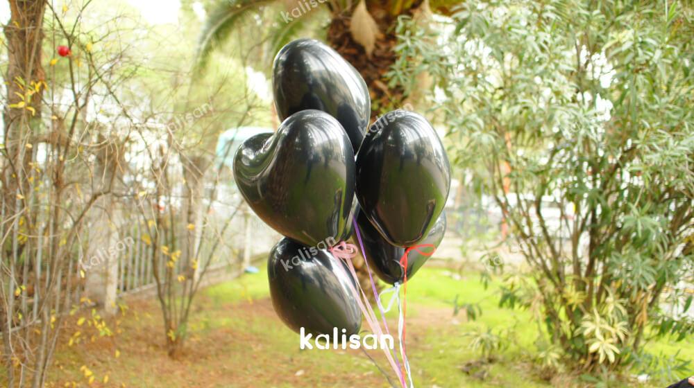 siyah kalpli balon