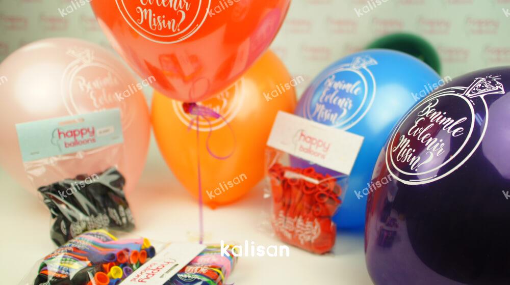 evlilik teklifi için balon