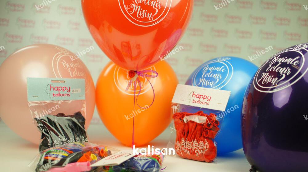 evlilik teklifi balonları