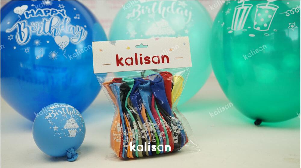 baskılı happy birthday balon