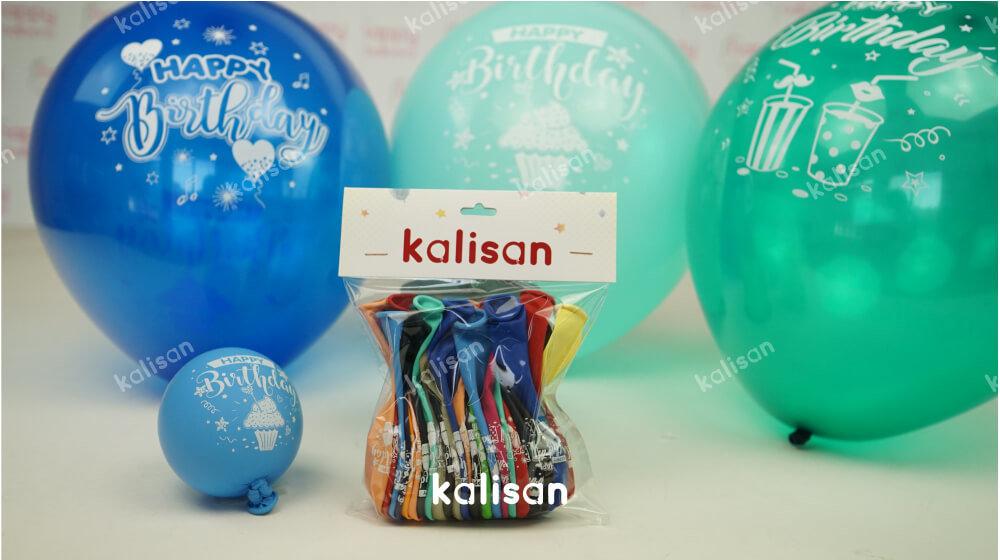 happy birthday baskılı balon