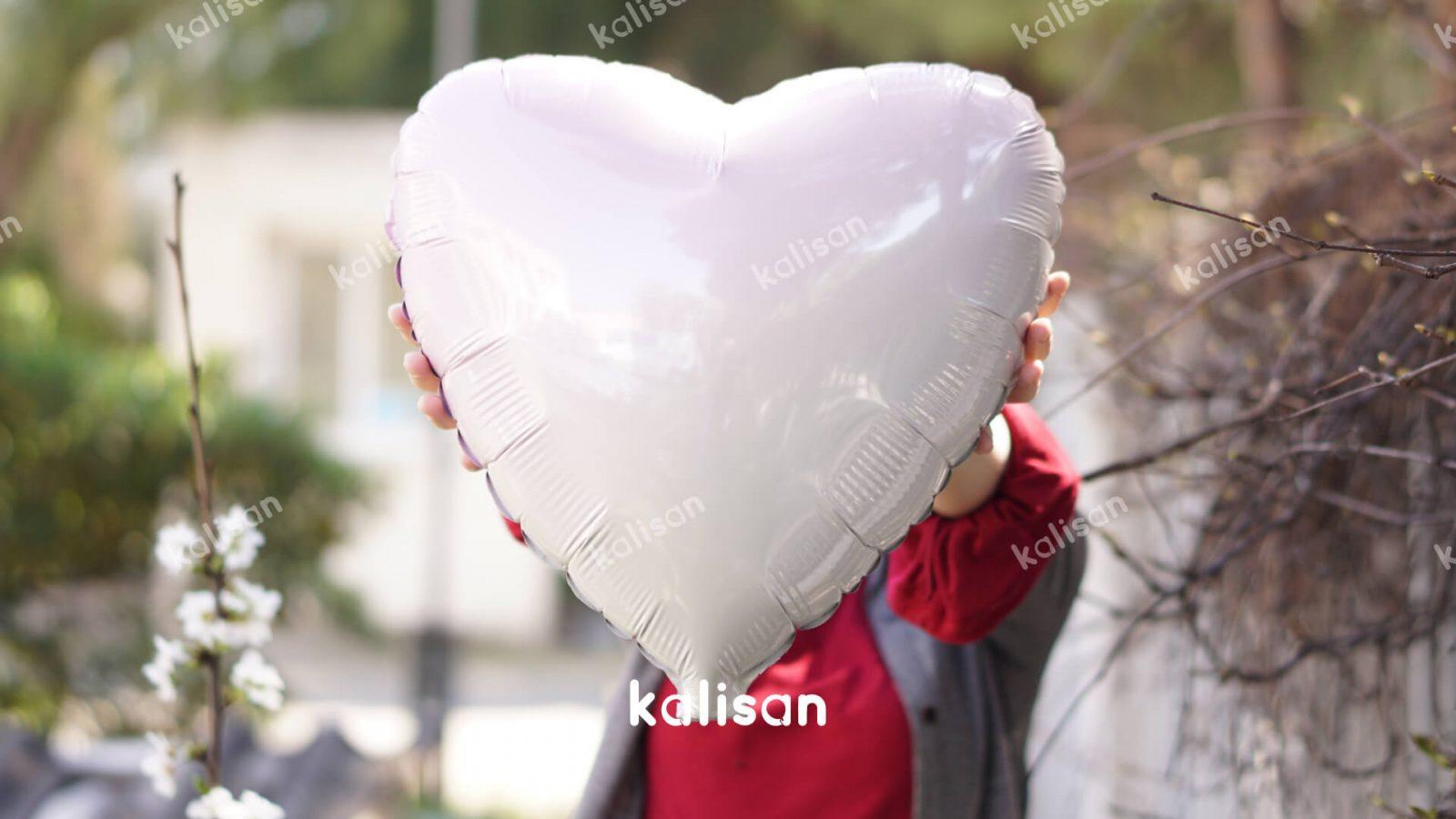46980004 Kalp Pembe – Beyaz Geçişli